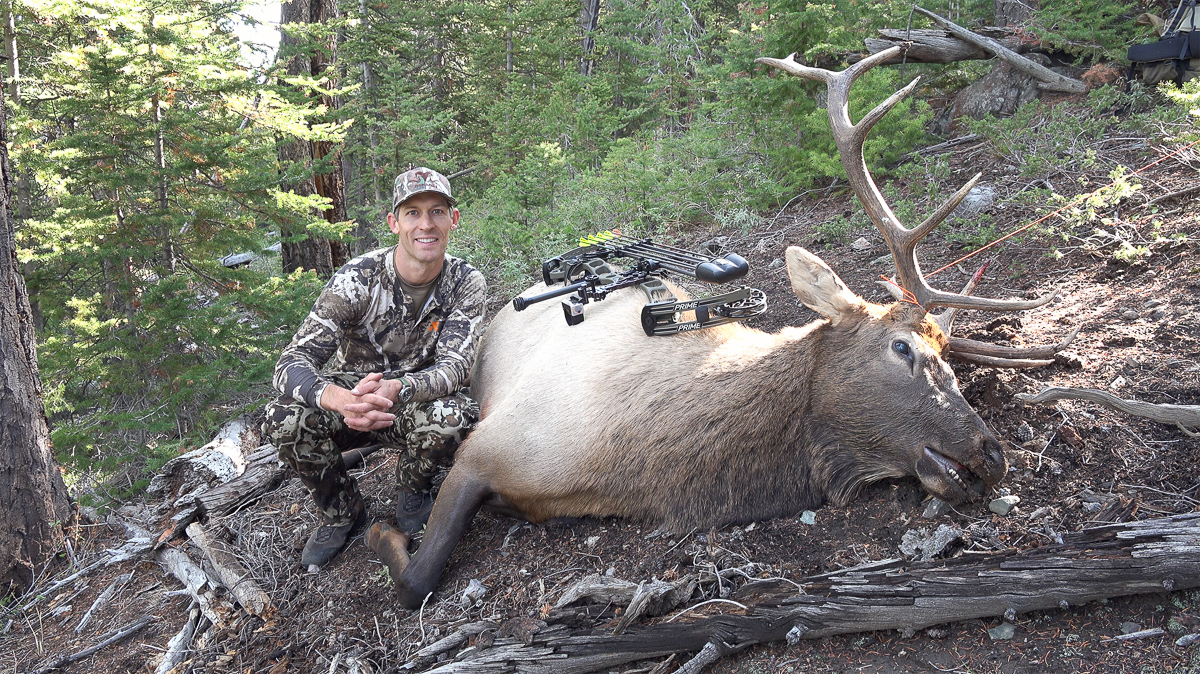 Brad Brooks with his archery bull elk