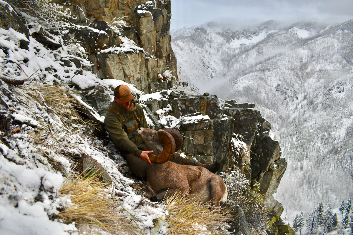 Paul Peterson with his Bighorn Sheep